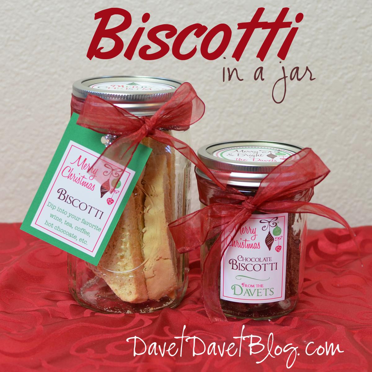 Italian Biscotti in a Jar