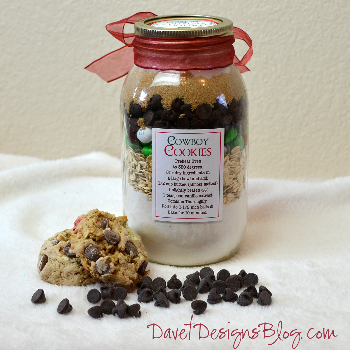 Cowboy Cookie Mix in a Jar