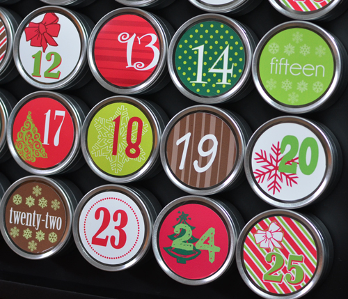 Advent Calendar inside tin