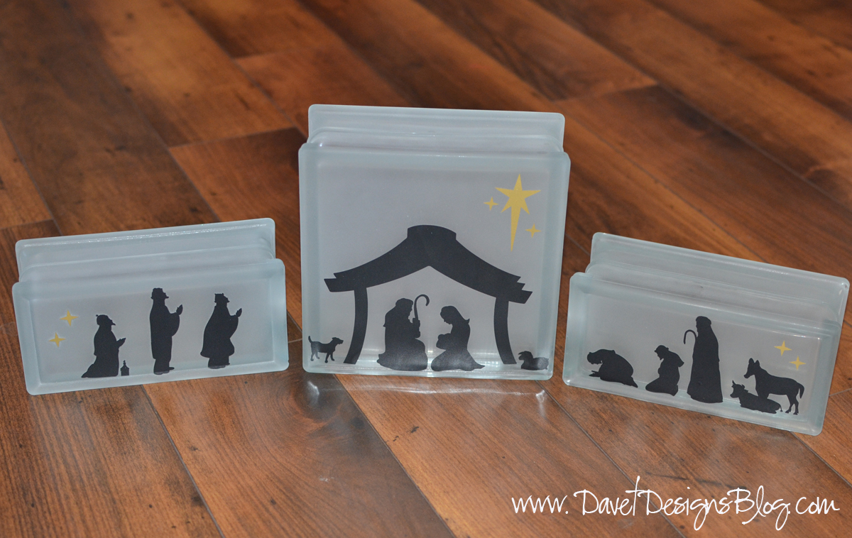 KraftyBlok Nativity scene frosted glass