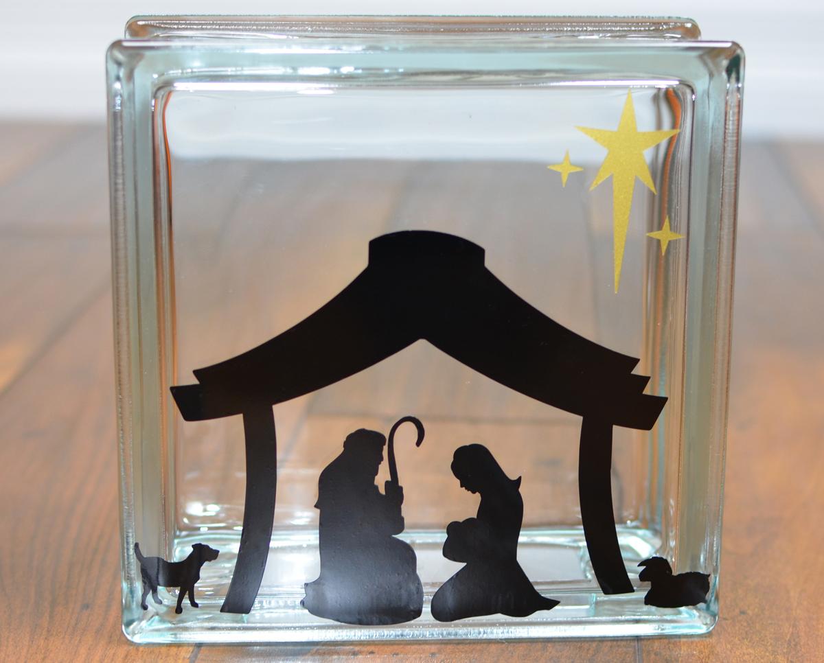 Left side KraftyBlok Nativity Scene
