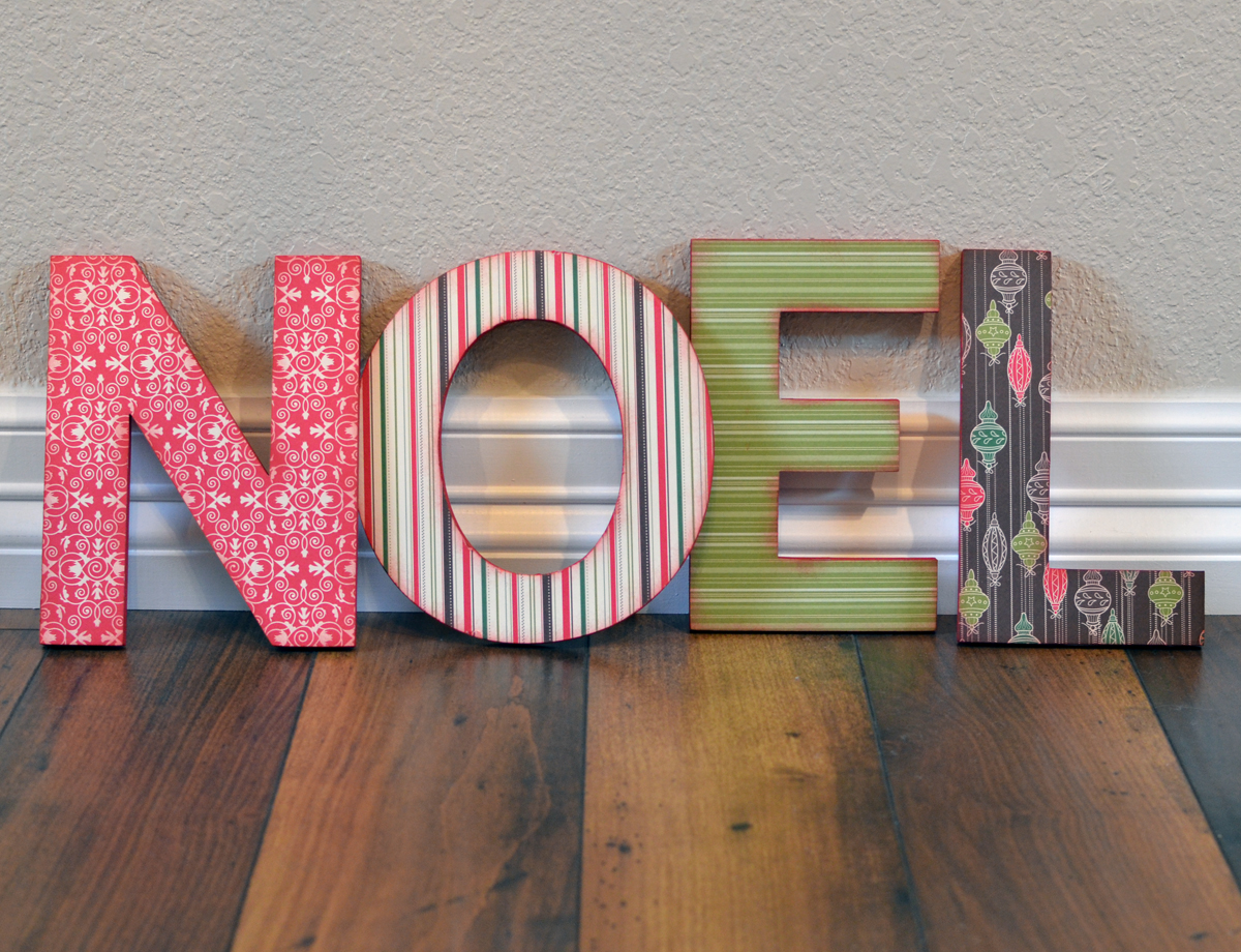 Chipboard Letters Ideas ~ Craft ideas from davet designs noel christmas