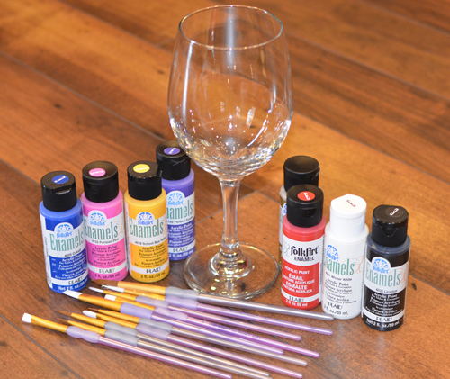 painted wine glass diy supplies - Wine Glass Design Ideas