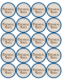 Oatmeal Bath Label 2inch round printable