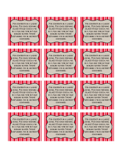Peppermint Stick Cocoa rectangle printable