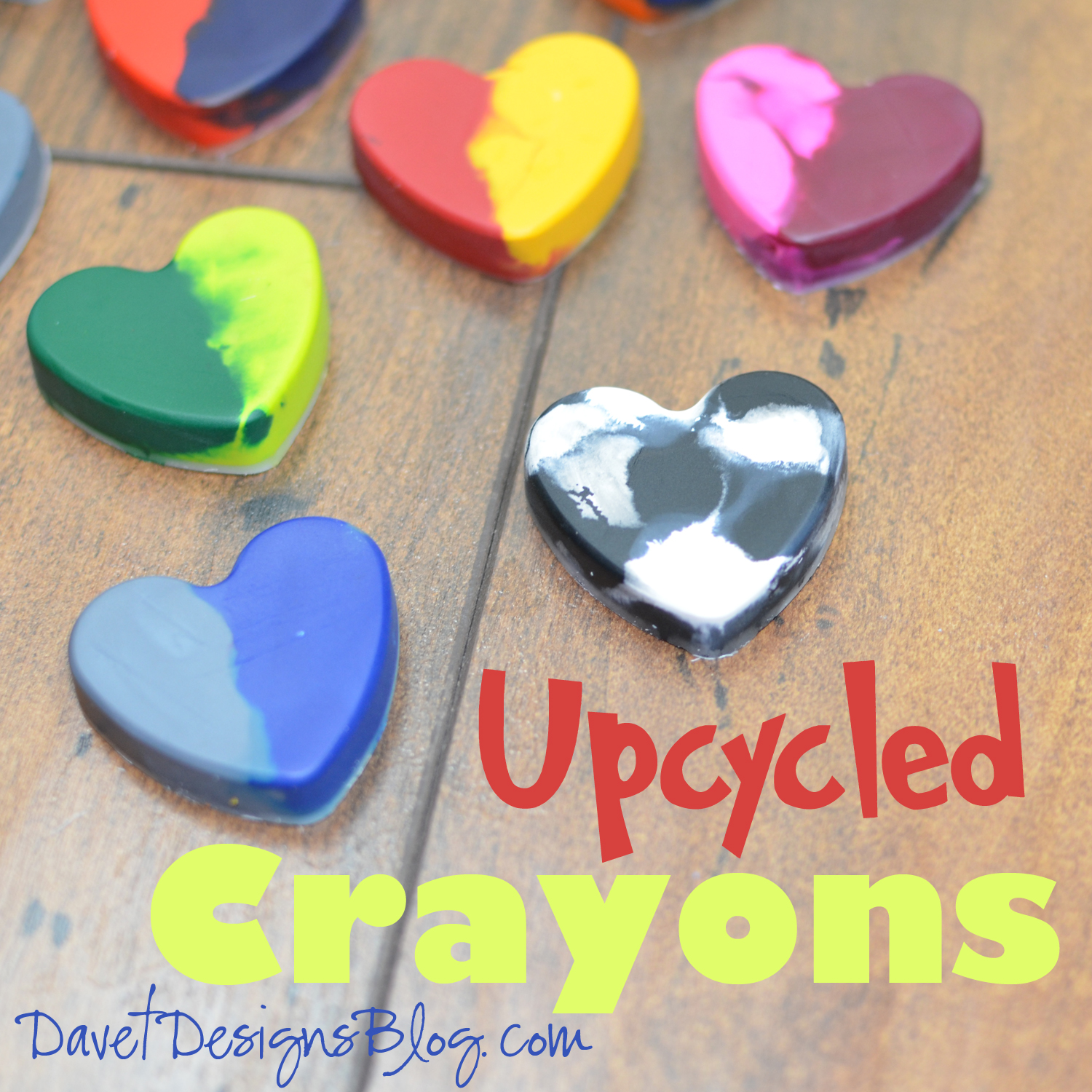 craft ideas and more from davet designs upcycled crayons diy tutorial. Black Bedroom Furniture Sets. Home Design Ideas