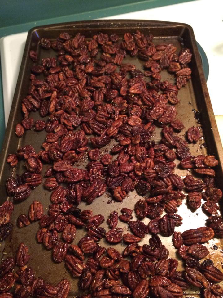 Chipotle and Rosemary Roasted Pecans