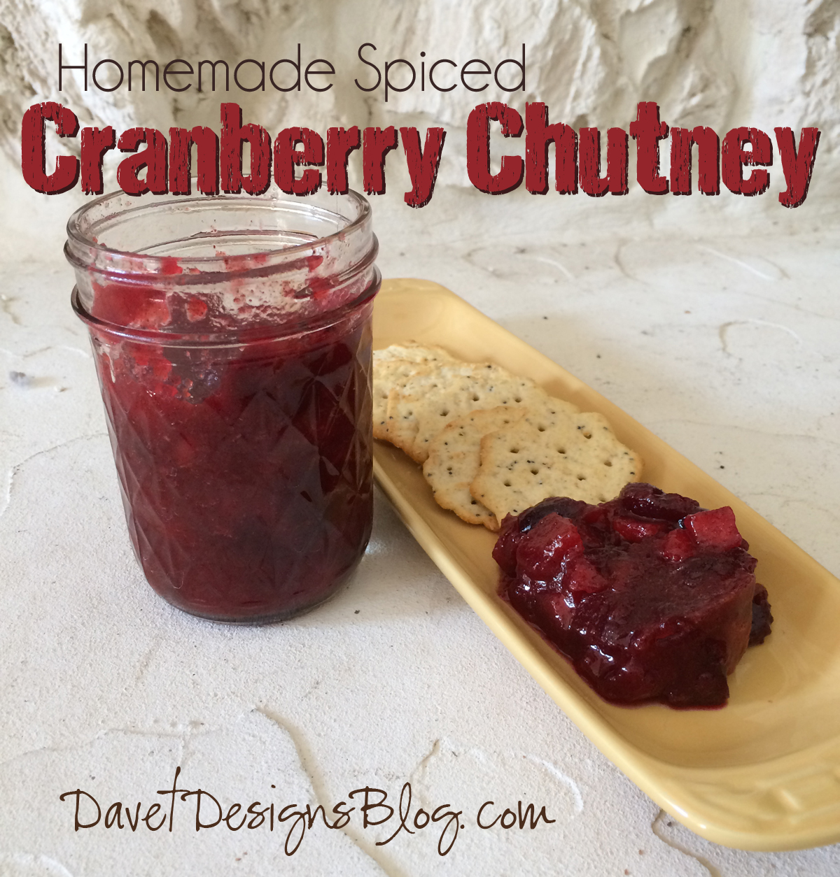 Homemade Spiced Cranberry Chutney