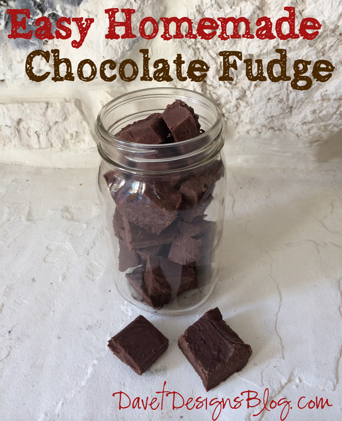easy fudge - 2 Ingredient Easy Fudge Recipe