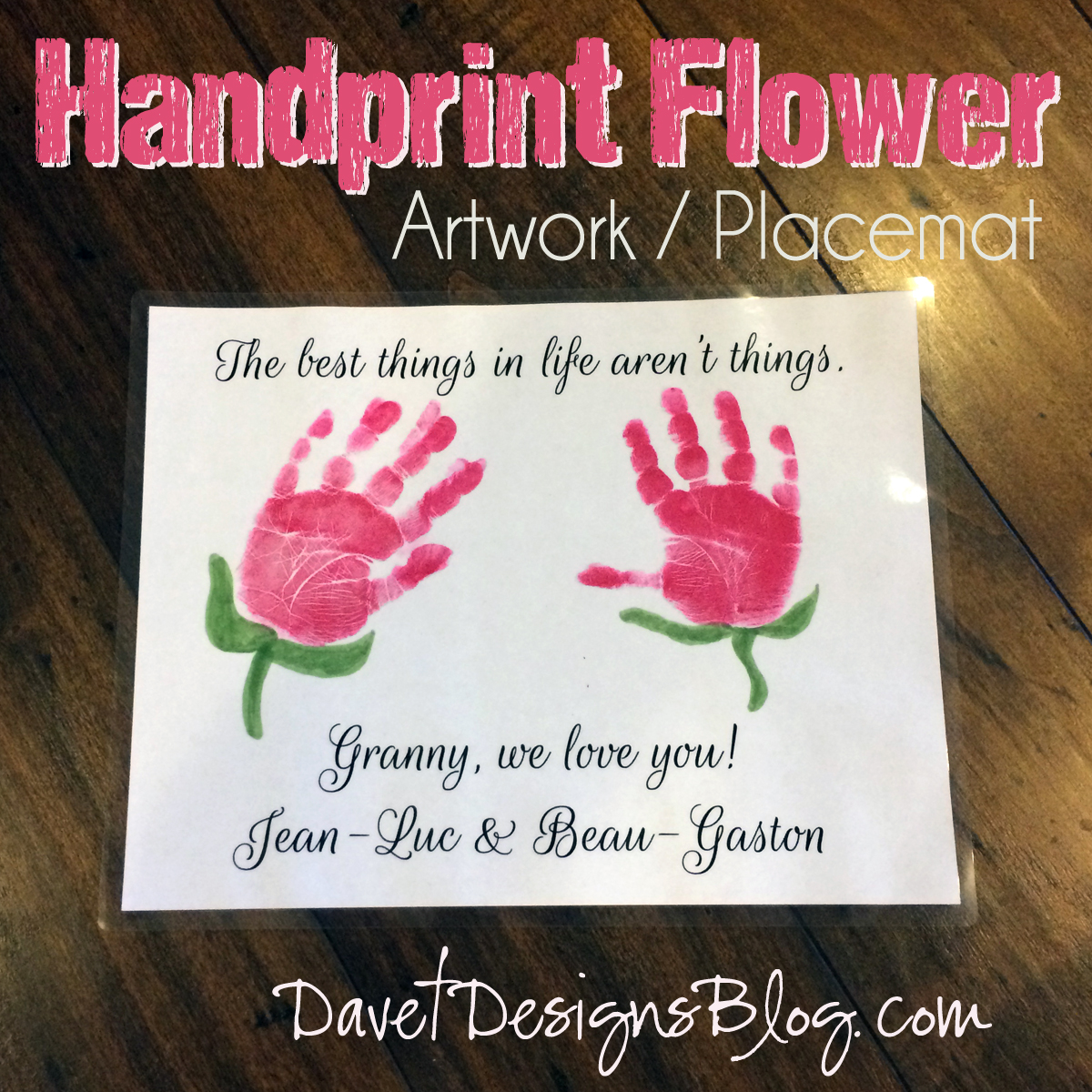 Handprint flower artwork