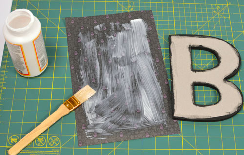 Chipboard Letter - mod podge paper