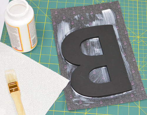 Chipboard Letter - apply paper