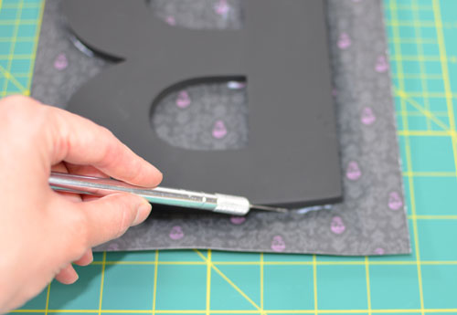 Chipboard Letter - trim paper