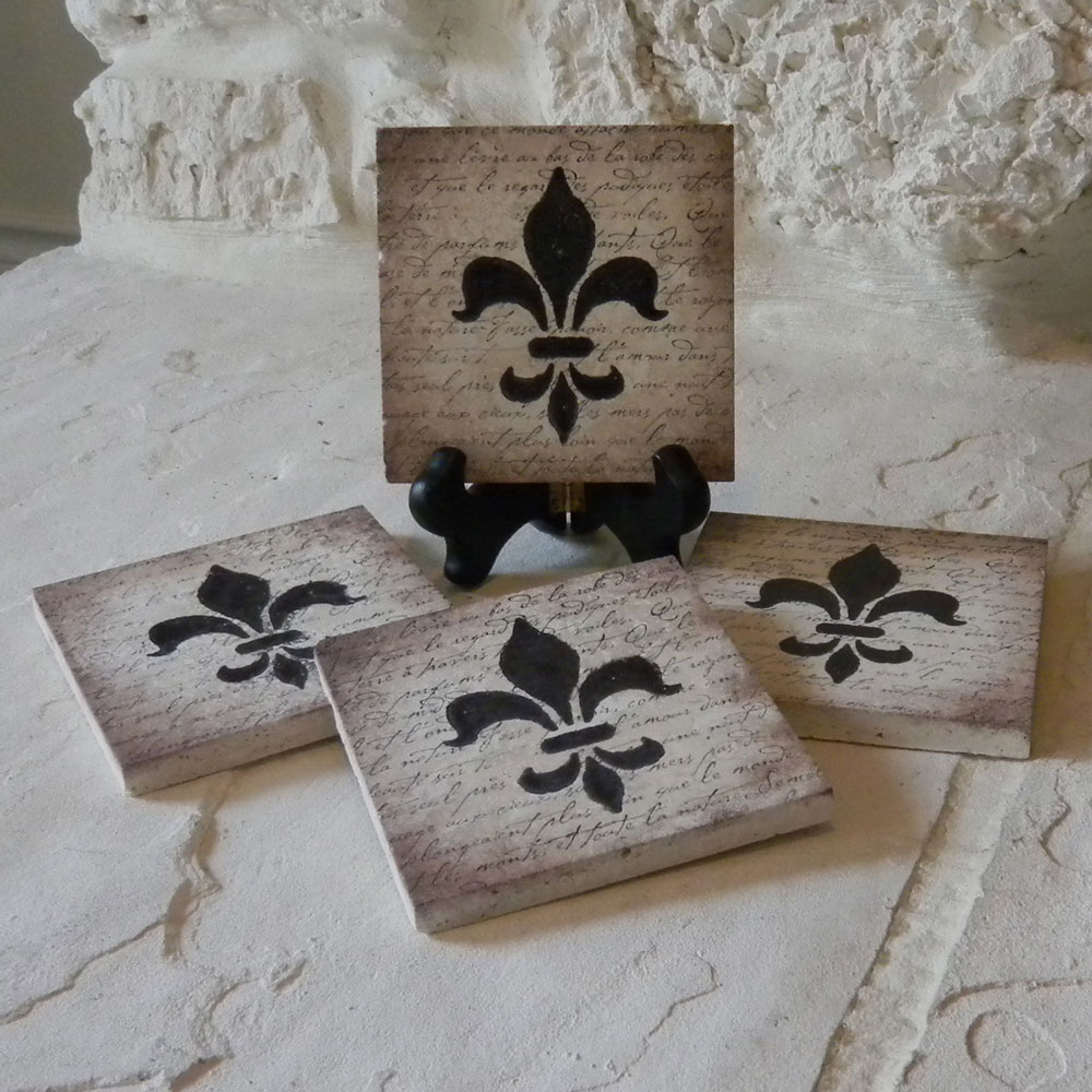 Craft Ideas And More From Davet Designs Stamped Tile Coasters