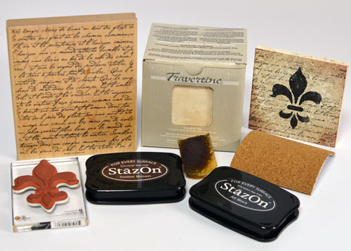 Stamped tile supplies