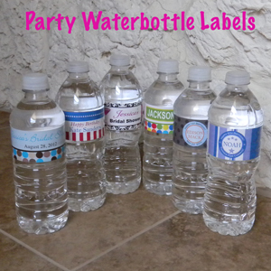 Water Bottle Party Designs