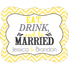 Wedding Label Cut WL-019