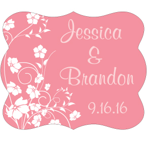 Wedding Label Cut WL-026