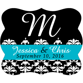 Wedding Label Cut WL-035
