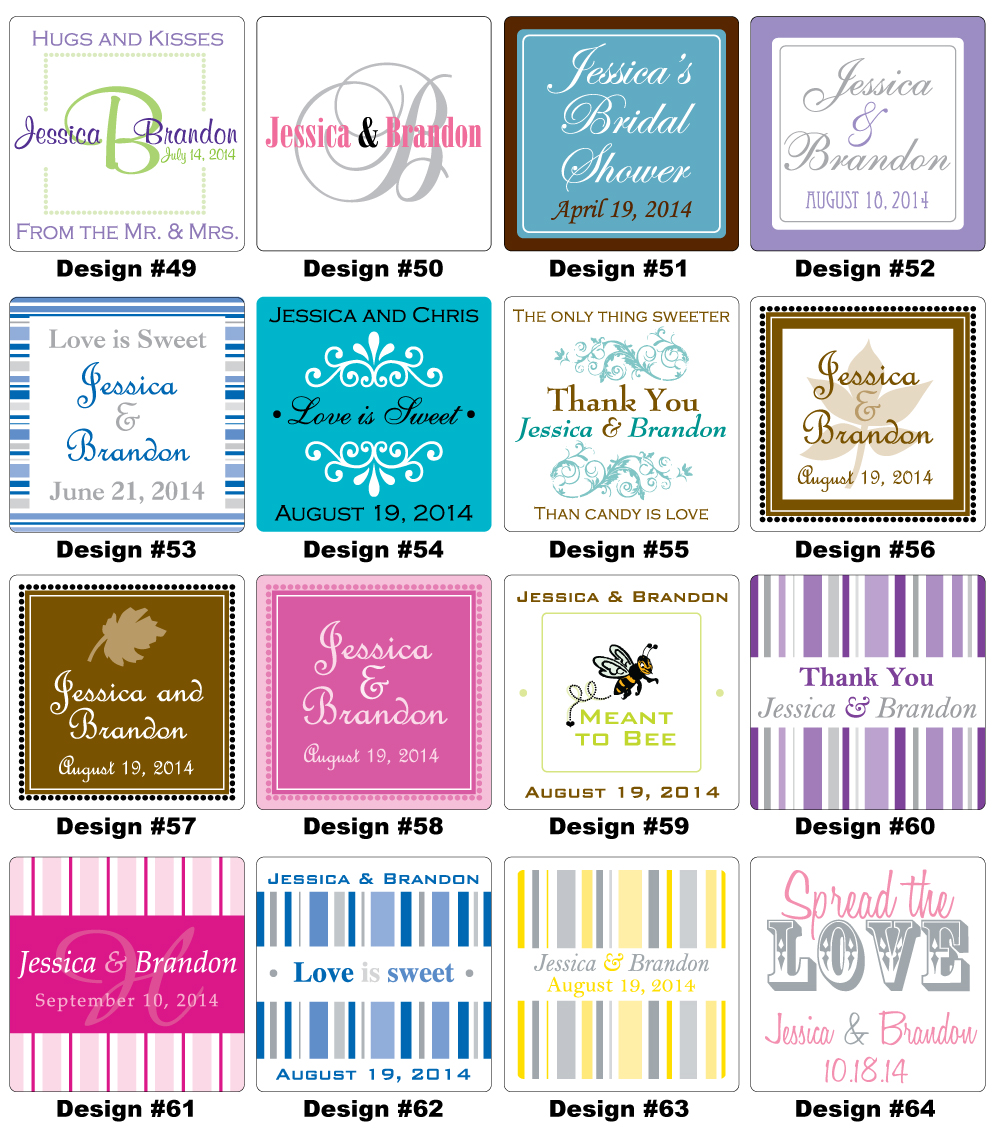 100 2x2 in custom glossy wedding stickers labels ebay for 2x2 label template